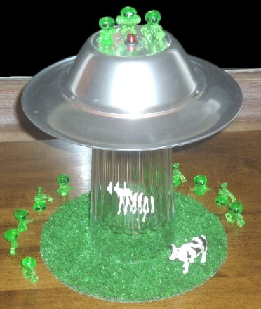 So Hereu0027s The Finished Alien Abduction Lamp, Complete With